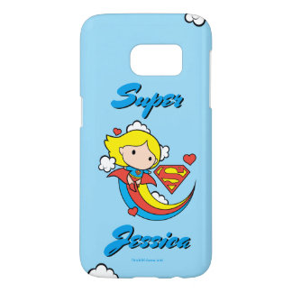 Coque Samsung Galaxy S7 Arc-en-ciel de vol de Chibi Supergirl
