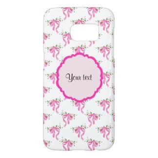 Coque Samsung Galaxy S7 Arcs romantiques roses élégants