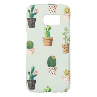 Coque Samsung Galaxy S7 Cactus succulent mignon romantique sur l'arrière -