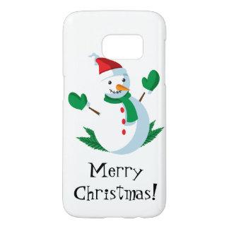 Coque Samsung Galaxy S7 Cas de téléphone de bonhomme de neige
