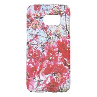 Coque Samsung Galaxy S7 Cas rose de téléphone de fleur