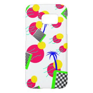 Coque Samsung Galaxy S7 Cas tropical de téléphone de palmier de Vaporwave