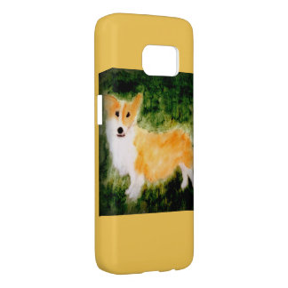 Coque Samsung Galaxy S7 Corgi mignon d'art de chien
