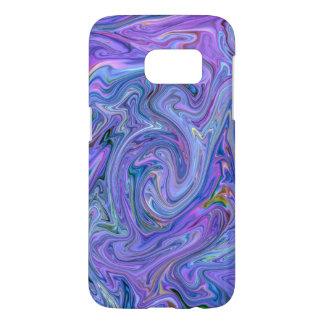 Coque Samsung Galaxy S7 couleurs crémeuses, bleues