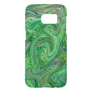 Coque Samsung Galaxy S7 couleurs crémeuses, vertes