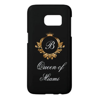 Coque Samsung Galaxy S7 Couronne royale chique de la Reine drôle