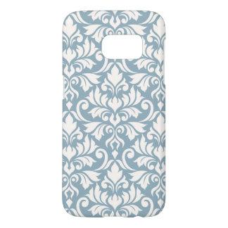 Coque Samsung Galaxy S7 Crème de motif de damassé de Flourish grande sur