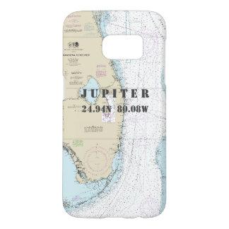 Coque Samsung Galaxy S7 Diagramme nautique de la Floride de longitude du