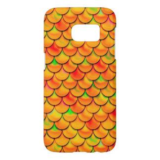 Coque Samsung Galaxy S7 Échelles oranges et vertes de Falln
