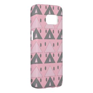 Coque Samsung Galaxy S7 Élégant drôle gris de motif de rose géométrique