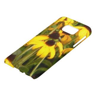 Coque Samsung Galaxy S7 Fleurs de Susan observées par noir