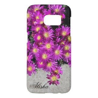 Coque Samsung Galaxy S7 Fleurs mauve de plante de glace de couleur