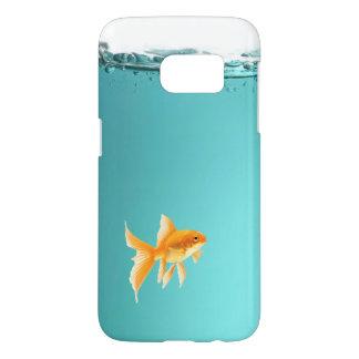 Coque Samsung Galaxy S7 Galaxie S7 de Samsung de poisson rouge à peine là