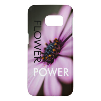 "Coque Samsung Galaxy S7 iPhone de ""flower power"" de concepteur ou"