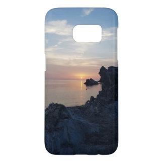 Coque Samsung Galaxy S7 Le coucher du soleil sur la plage d'Argentiera