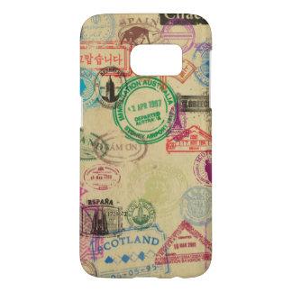 Coque Samsung Galaxy S7 Le passeport vintage emboutit la caisse de la