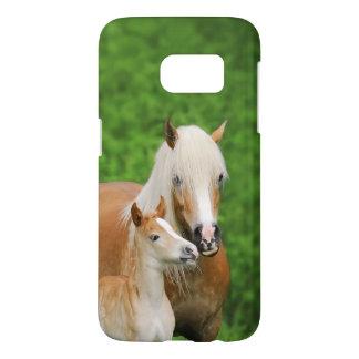 Coque Samsung Galaxy S7 Maman mignonne de baiser de poulain de chevaux de