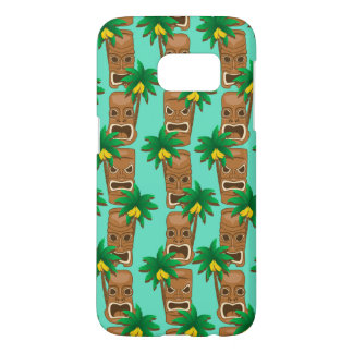 Coque Samsung Galaxy S7 Motif hawaïen de répétition de Tiki