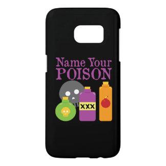 Coque Samsung Galaxy S7 Nommez votre caisse du poison SG7