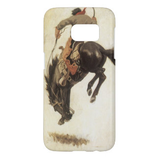 Coque Samsung Galaxy S7 Occidental vintage, cowboy sur un cheval