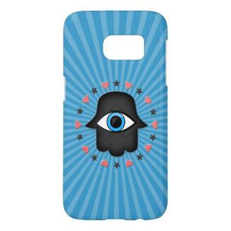 Coque Samsung Galaxy S7 oeil de khamsa de hamsa à disposition de la déesse