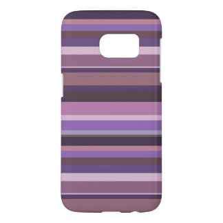 Coque Samsung Galaxy S7 Rayures horizontales mauve