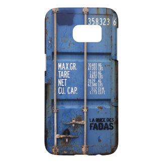 Coque Samsung Galaxy S7 Récipient d'expédition bleu de rouillement affligé