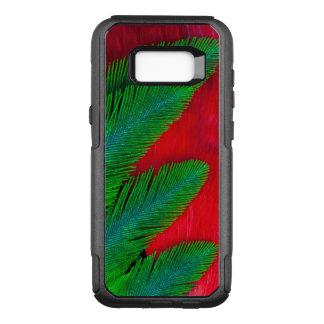 Coque Samsung Galaxy S8+ Par OtterBox Commuter Abrégé sur rouge et vert plume