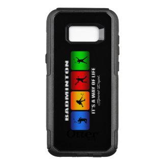 Coque Samsung Galaxy S8+ Par OtterBox Commuter Badminton frais c'est un mode de vie