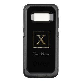 Coque Samsung Galaxy S8 Par OtterBox Commuter Choisissez votre propre initiale Samsung en métal