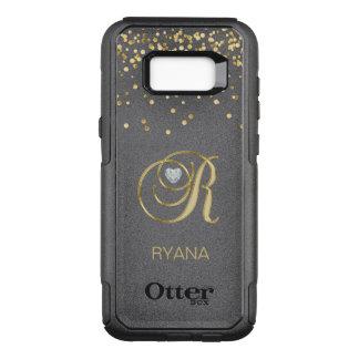 Coque Samsung Galaxy S8+ Par OtterBox Commuter Coeur décoré d'un monogramme de diamant de coeur