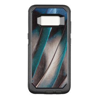 Coque Samsung Galaxy S8 Par OtterBox Commuter Conception bleue de plume d'inséparable