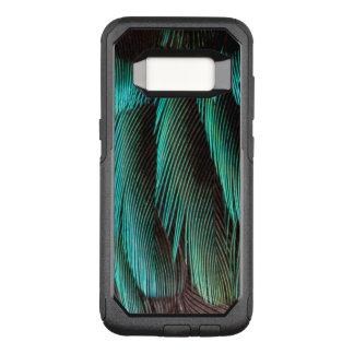 Coque Samsung Galaxy S8 Par OtterBox Commuter Conception bleue et noire de plume
