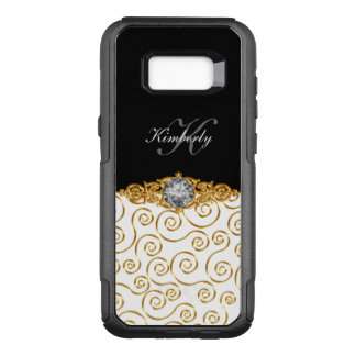 Coque Samsung Galaxy S8+ Par OtterBox Commuter Conception chique de Bling de monogramme