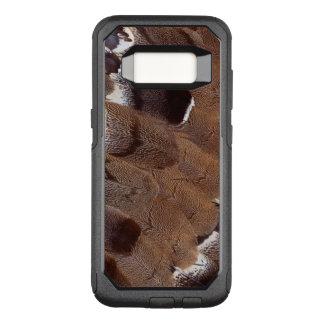 Coque Samsung Galaxy S8 Par OtterBox Commuter Conception de plume de Brown