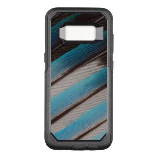 Coque Samsung Galaxy S8 Par OtterBox Commuter Conception de plume de rouleau Bleu-Gonflée par