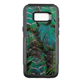 Coque Samsung Galaxy S8+ Par OtterBox Commuter Conception verte de plume de paon