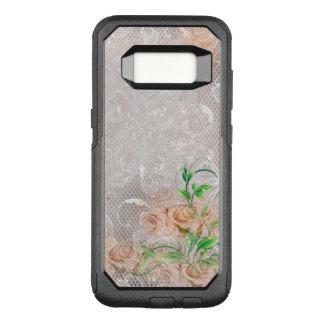 Coque Samsung Galaxy S8 Par OtterBox Commuter Damassé anglaise Toule de roses de pêche fumeuse