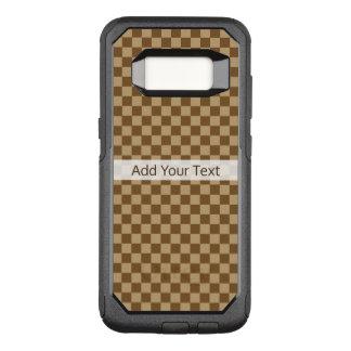 Coque Samsung Galaxy S8 Par OtterBox Commuter Damier classique de Brown par Shirley Taylor