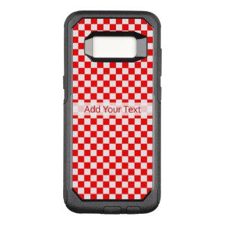 Coque Samsung Galaxy S8 Par OtterBox Commuter Damier classique rouge et blanc par STaylor