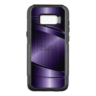 Coque Samsung Galaxy S8+ Par OtterBox Commuter Dessin géométrique moderne pourpre métallique