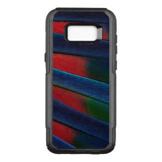 Coque Samsung Galaxy S8+ Par OtterBox Commuter Détail Bleu-Dirigé de plume de perroquet