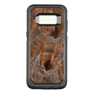 Coque Samsung Galaxy S8 Par OtterBox Commuter Fermez-vous des plumes de Brown