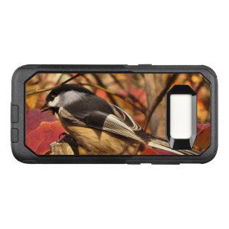 Coque Samsung Galaxy S8 Par OtterBox Commuter Feuille d'automne et oiseau roses de Chickadee