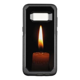 Coque Samsung Galaxy S8 Par OtterBox Commuter Flamme de bougie sur la caisse noire de la galaxie