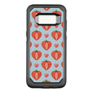 Coque Samsung Galaxy S8 Par OtterBox Commuter Fraises de coeur avec le pois et les coeurs
