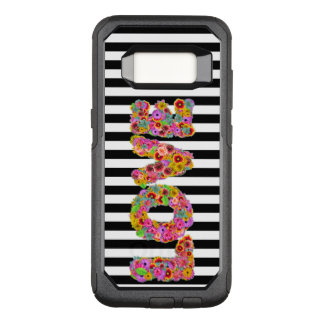 Coque Samsung Galaxy S8 Par OtterBox Commuter La fleur psychédélique d'amour marque avec des