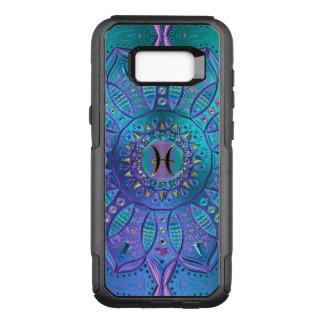 Coque Samsung Galaxy S8+ Par OtterBox Commuter Mandala de Poissons dans la turquoise et le