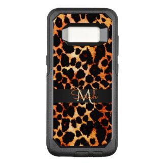 Coque Samsung Galaxy S8 Par OtterBox Commuter Monogramme de poster de animal de léopard de Brown