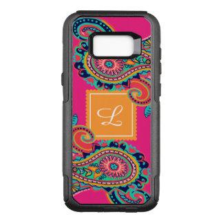 Coque Samsung Galaxy S8+ Par OtterBox Commuter Monogramme lumineux de Paisley de rose